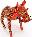 African Tin Animals PTASW Warthog Painted Tin