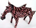 African Tin Animals PTAW Warthog Painted Tin