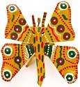 African Tin Animals PTIBUT Butterfly Painted Tin
