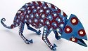 African Tin Animals PTICH Chameleon Painted Tin
