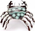 African Tin Animals PTICR Crab Painted Tin