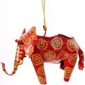 African Tin Animals PTOE Elephant Painted Tin Ornament