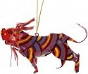 African Tin Animals PTOL Lion Painted Tin Ornament