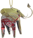 African Tin Animals TOE Elephant Unpainted Tin Ornament
