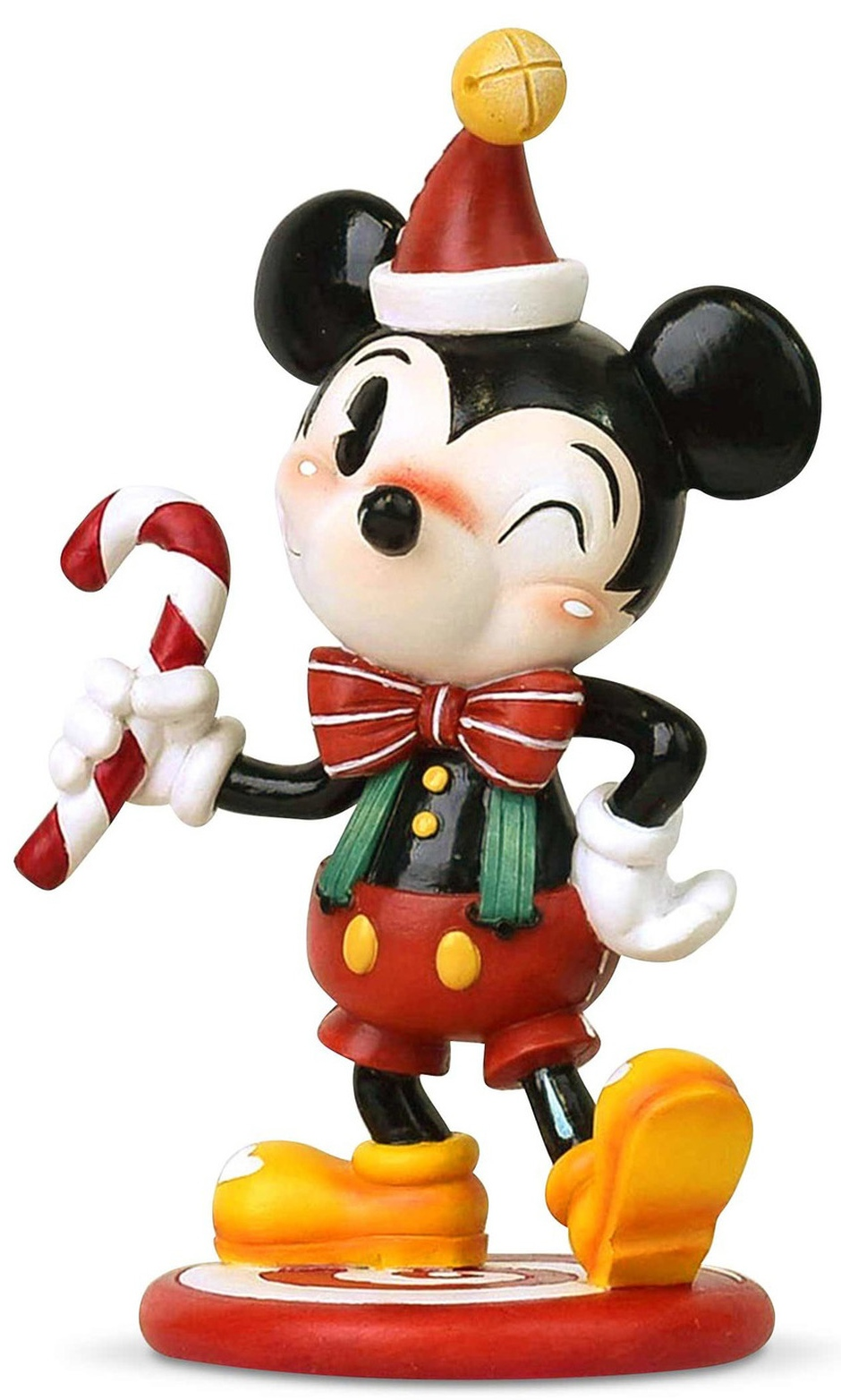 World of Miss Mindy 6003765 Christmas Mickey Figurine