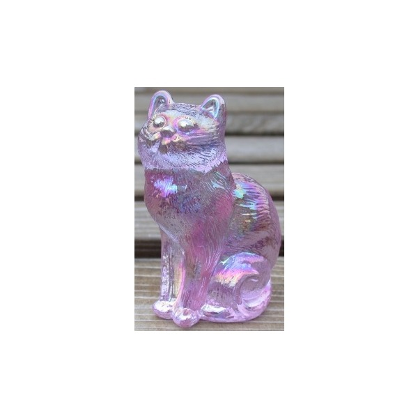 Special Sale 101AlexandriteCarn Mosser Glass 101 Cat Sitting Alexandrite Carnival - The Collector's Addition Exclusive