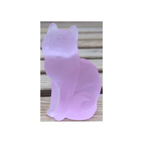 Special Sale 101AlexandriteStn Mosser Glass 101 Cat Sitting Alexandrite Satin - The Collector's Addition Exclusive