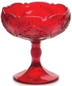 Mosser Glass 179COMRed Inverted Thistle Set 179 Compote Large Red