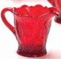 Mosser Glass 179CRed Inverted Thistle Set 179 Creamer Red