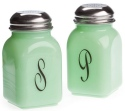Mosser Glass 247Jadeite Salt & Pepper Set 247 Jadeite