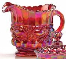 Special Sale 409CRedCarn Mosser Glass 409B Creamer Red Carnival