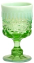 Mosser Glass 409GGreenOpal Eye Winker Set 409 Goblet Green Opal