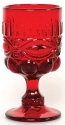 Mosser Glass 409GRed Eye Winker Set 409 Goblet Red