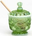 Mosser Glass 409HGreenOpal Eye Winker Set 409 Honey Jar Green Opal