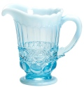 Mosser Glass 409PAquaOpal Eye Winker Set 409 Pitcher Aqua Opal