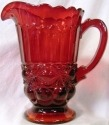 Mosser Glass 409PRed Eye Winker Set 409 Pitcher Red