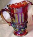 Mosser Glass 409PRedCarn Eye Winker Set 409 Pitcher Red Carnival