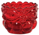 Mosser Glass 409SDRed Eye Winker Set 409 Salt Dip Red
