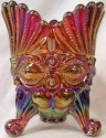 Mosser Glass 409SPRedCarn Eye Winker Set 409 Spooner Red Carnival