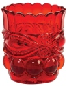 Mosser Glass 409TPRPRed Eye Winker Set 409 Toothpick Holder Red