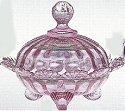 Mosser Glass 915CCPassionPink Footed Set 915 Covered Candy Bowl Passion Pink