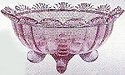 Mosser Glass 915FBPassionPink Footed Set 915 Fruit Bowl Passion Pink
