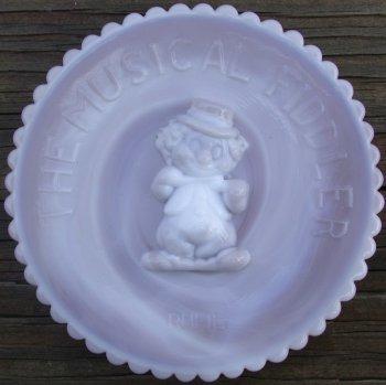 Special Sale FiddlerPlateRufie Mosser Glass Fiddler Plate Rufie Pewter Slag Clown Plate