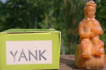Special Sale PerformerYank Mosser Glass Performer Clown Yank Taffy Figurine