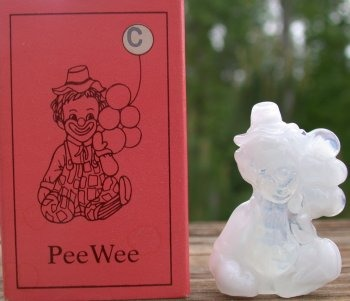 Special Sale PeeWeeC Mosser Glass Pee Wee Clown C Crystal Windfrost Clown Figurine