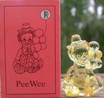 Mosser Glass PeeWeeR Gold Krystal Clown Figurine