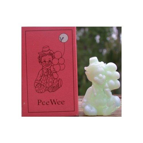 Special Sale PeeWeeY Mosser Glass Pee Wee Clown Y Green Windfrost Clown Figurine