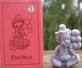 Mosser Glass PeeWeeT Grey Clown Figurine T Pee Wee
