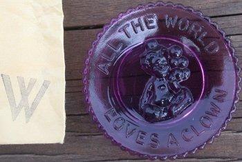 Special Sale PeeWeePlateW Mosser Glass Pee Wee Plate W Amethyst Clown Plate