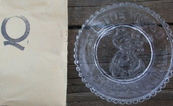 Special Sale PeeWeePlateQ Mosser Glass Pee Wee Plate Q Crystal Clown Plate