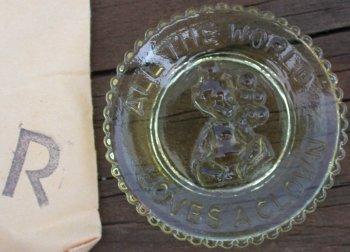 Special Sale PeeWeePlateR Mosser Glass Pee Wee Plate R Gold Krystal Clown Plate