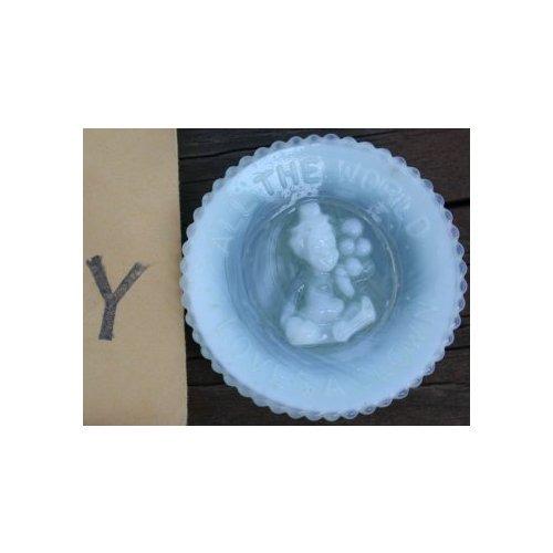 Special Sale PeeWeePlateY Mosser Glass Pee Wee Plate Y Green Windfrost Clown Plate
