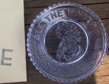 Special Sale PeeWeePlateE Mosser Glass Pee Wee Plate E Heatherbloom Clown Plate