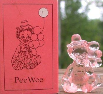 Special Sale PeeWeeI Mosser Glass Pee Wee Clown I Peachblo Clown Figurine