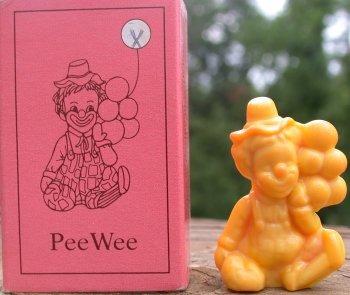 Special Sale PeeWeeX Mosser Glass Pee Wee Clown X Yellow Milk Clown Figurine