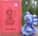 Special Sale PeeWeeH Mosser Glass Pee Wee Clown H Custard & Cobalt Slag Clown Figurine