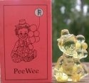 Special Sale PeeWeeR Mosser Glass Pee Wee Clown R Gold Krystal Clown Figurine