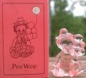 Special Sale PeeWeeI Mosser Glass Pee Wee Clown I Peachblo Clown Figurine