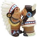 Mwah 93944 Indian Chief and Squaw Salt & Pepper Shakers