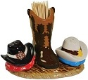 Mwah 94401 Western Cats S&P and Toothpick Holder Set