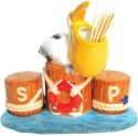 Mwah 94406 Pelican on Pier S&P and Toothpick Holder Set