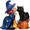 Mwah 94421 Witch & Cat Salt & Pepper Shakers