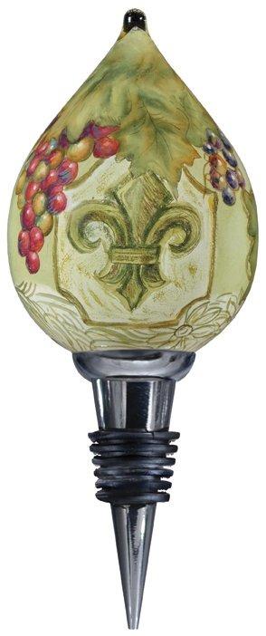 Ne'Qwa Art 7000146 Fleur de Lis Vines Wine Stopper
