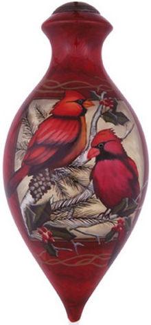 Ne'Qwa Art 7141107 Crimson Cardinals Ornament