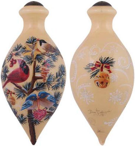 Ne'Qwa Art 7151128 Festive Flock Ornament