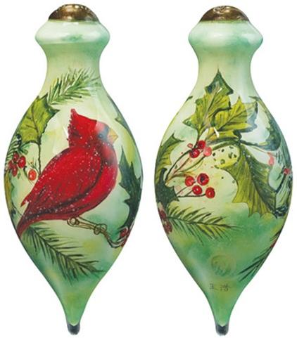 Ne'Qwa Art 7161139 Holly Cardinal Ornament
